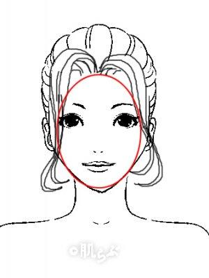 小顔 前髪 イラスト6