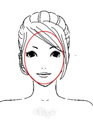 小顔 前髪 イラスト7