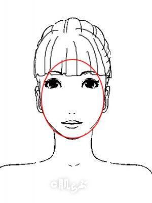 小顔 前髪 イラスト9
