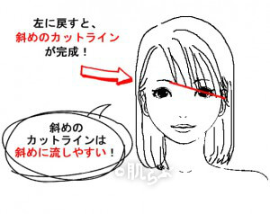 斜め前髪作り方