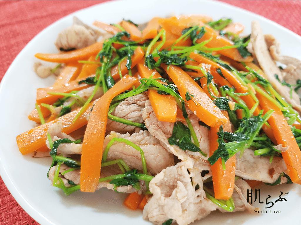 βカロテン野菜と豚肉の中華風炒め