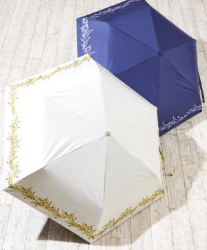 PAGE ONE(ページワン) ブーケ柄折りたたみ日傘