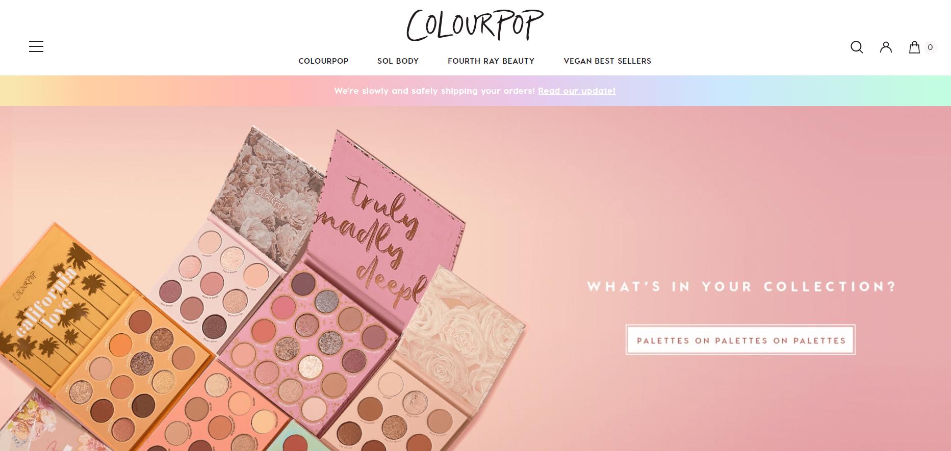 ColourPop公式サイト