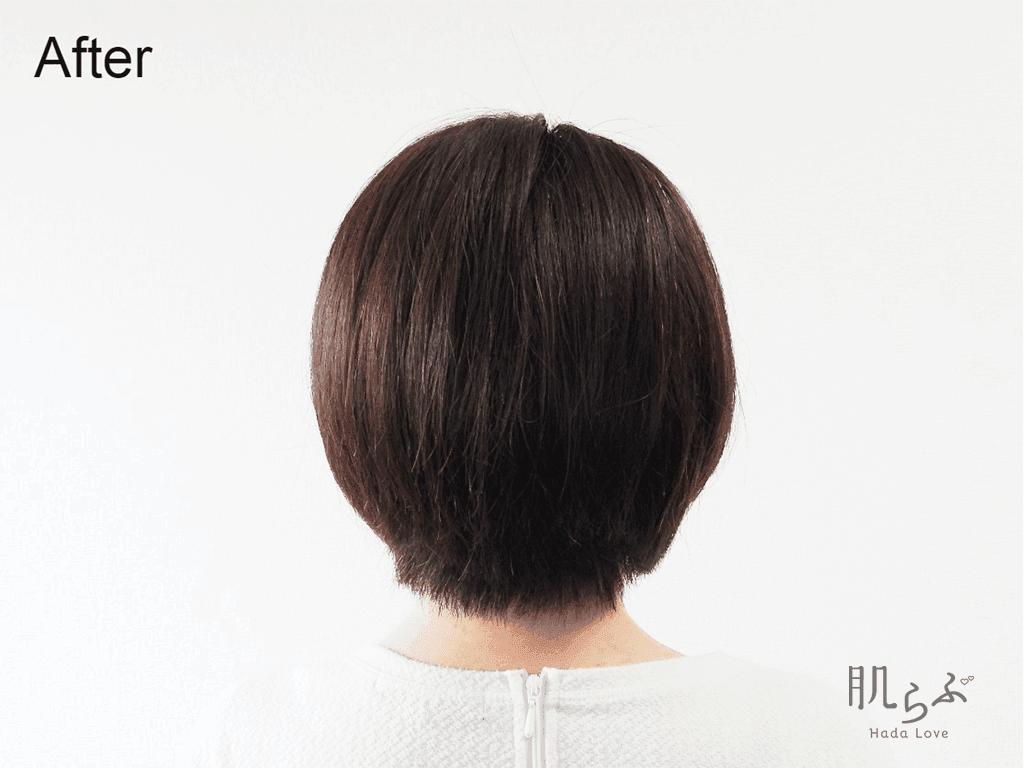 「米肌 活潤ヘッドクレンズ」の使用後の髪