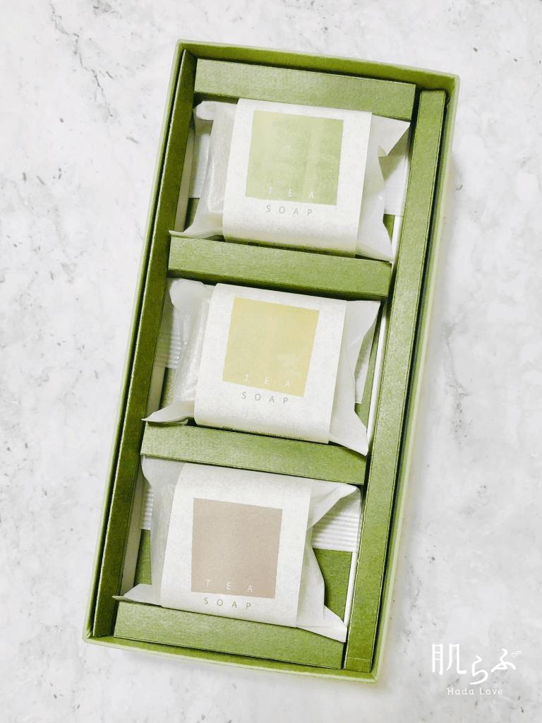 3種類の香りの「お茶の石鹸」