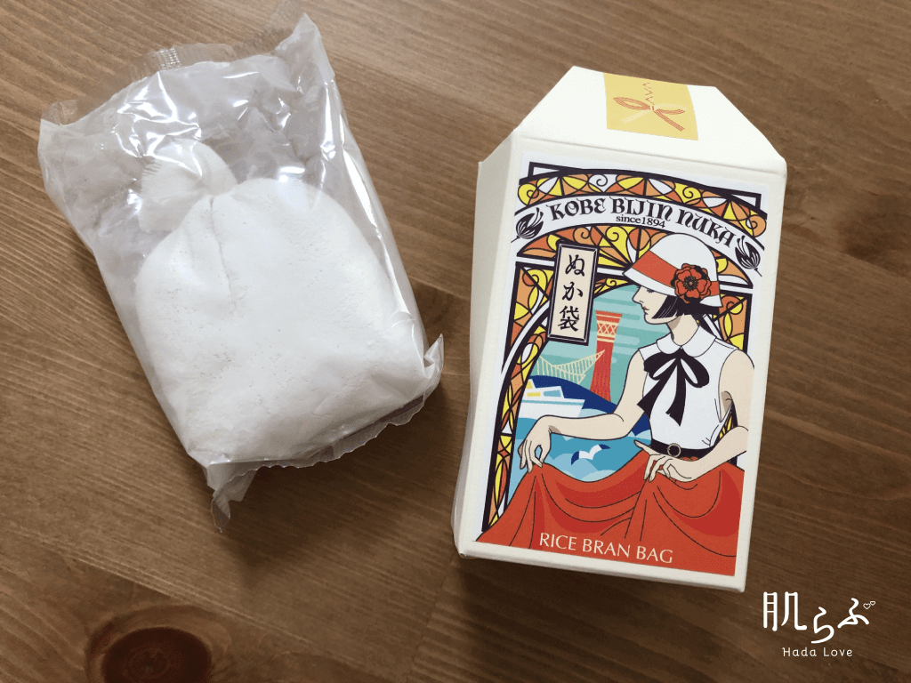神戸美人ぬか ぬか袋タイプの中身と外箱