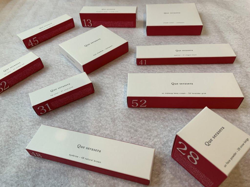 ケセラセラ化粧品の箱