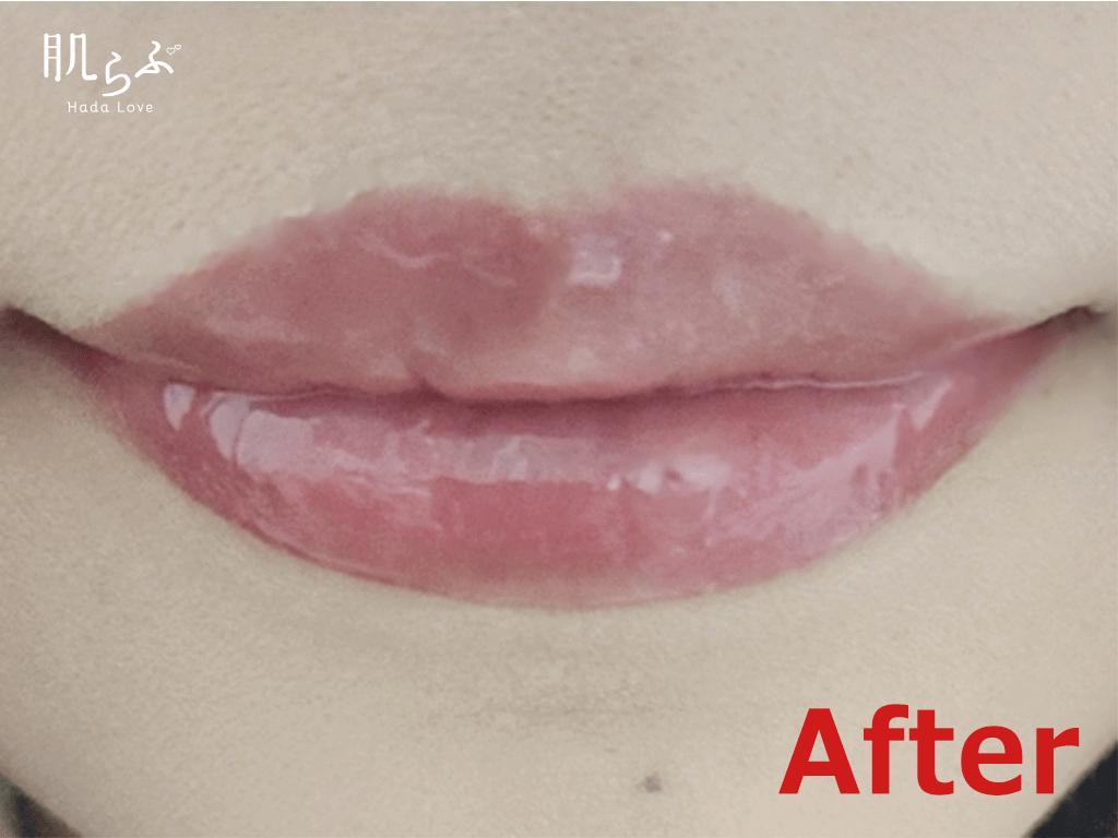 ヌレヌレを塗った後の唇