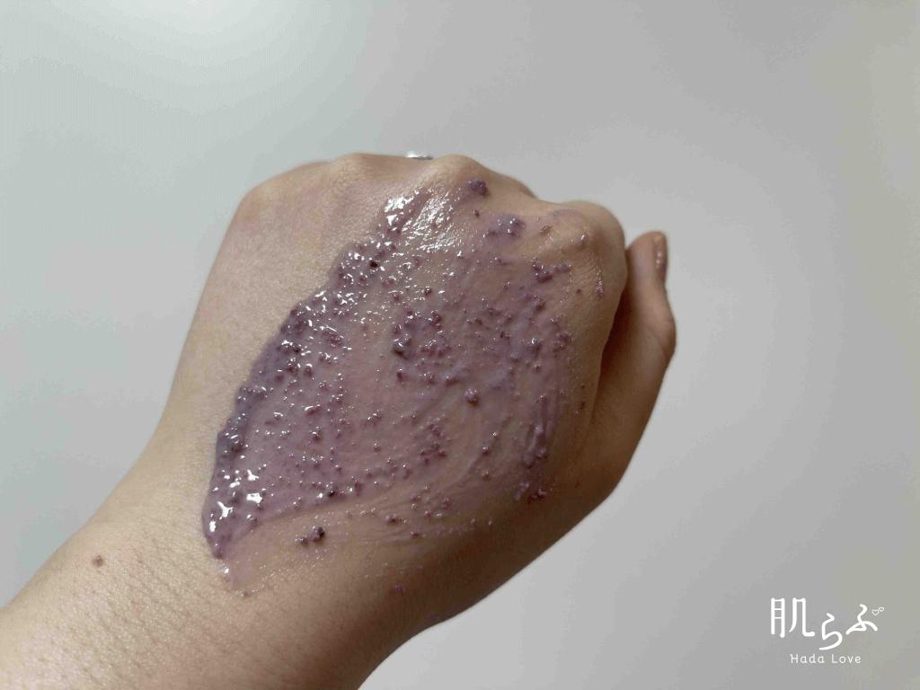 ビューティースリープを手に塗ったところ